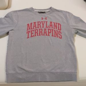 Gray Under Armour Maryland Terrapins Sweatshirt